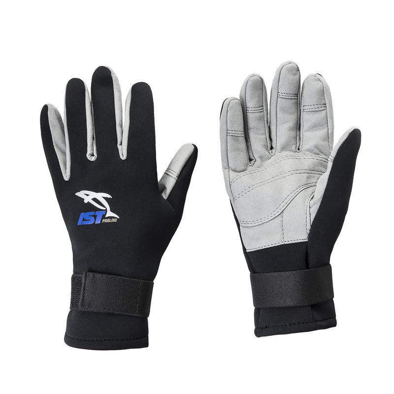 IST S900 2mm Neoprene Glove with Amara Leather Palms and Velcro Wrist Straps