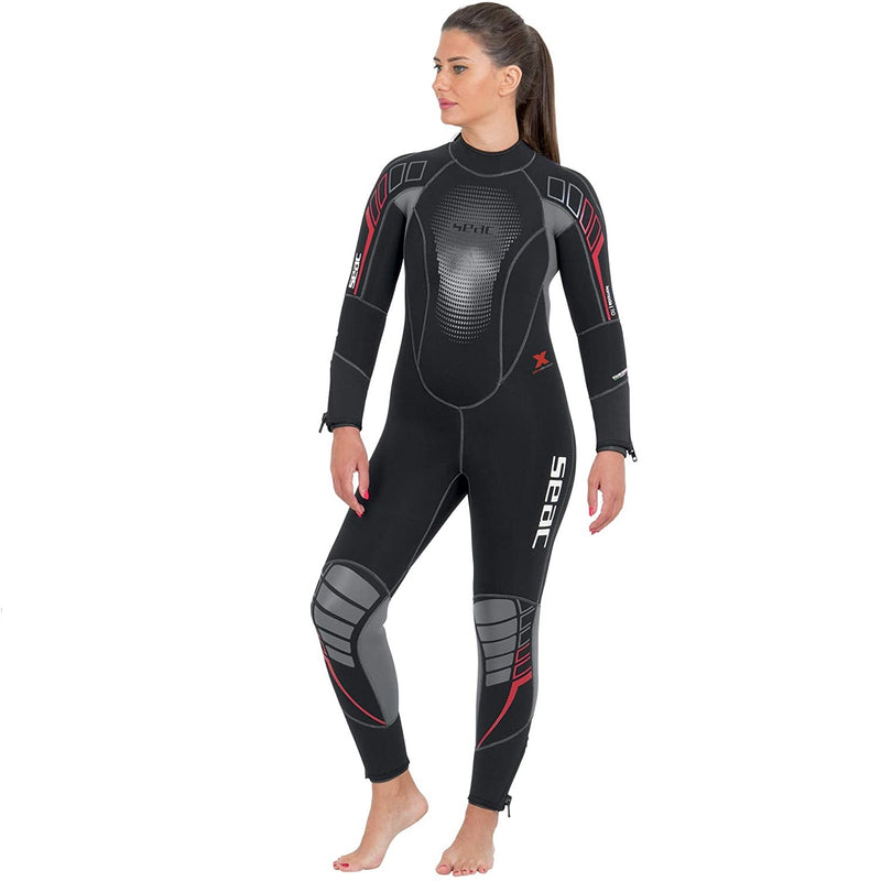 SEAC Komoda Lady, Ultra Comfortable Scuba Diving Wetsuit in 7 mm Superelastic Neoprene, Rear Zip