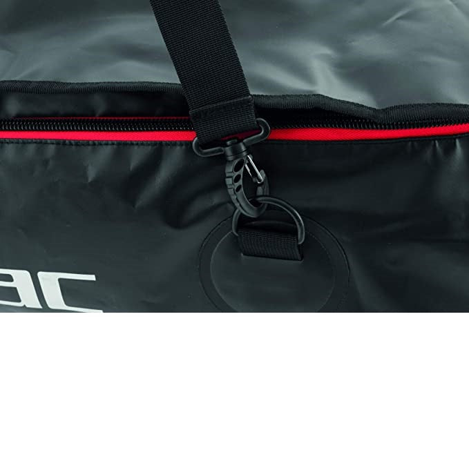 "SEAC U-Boot 130, Dry Bag for Diving, Perfect for Long Fins, 37""x16""x12"", 130 lt, Black, Standard"