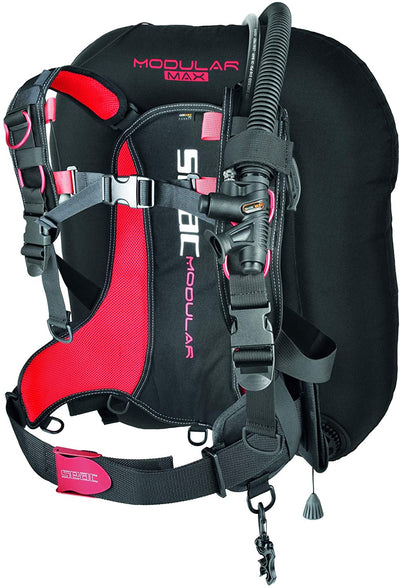SEAC Modular MAX, Travel BCD for Dual Tanks, Interchangeable Scuba Diving Jacket, Lightweight