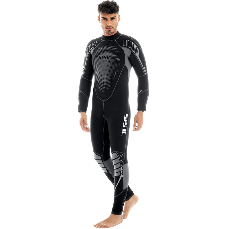SEAC Komoda Man, Ultra Comfortable Scuba Diving Wetsuit in 3 mm Superelastic Neoprene, Rear Zip