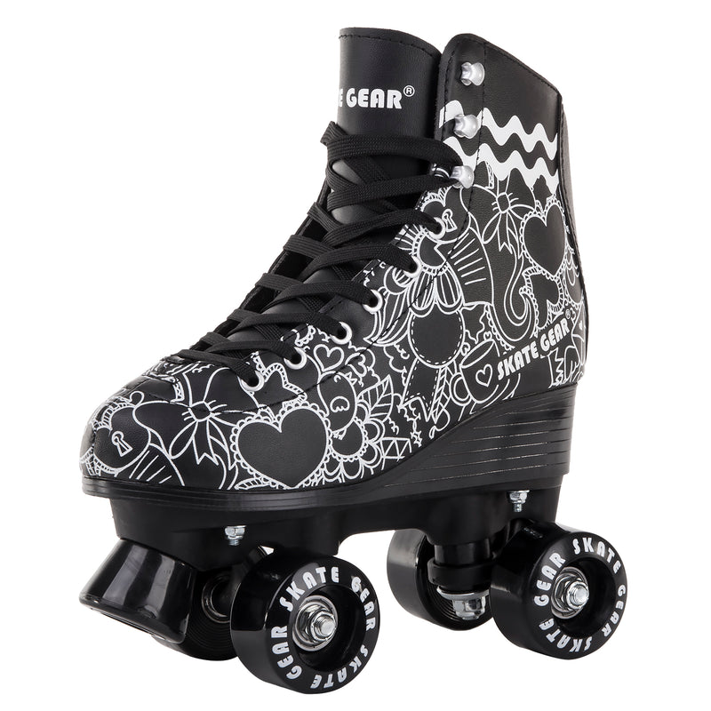 Skate Gear Graphic Extra Support All-purpose Indoor Outdoor Speedy Roller Skate