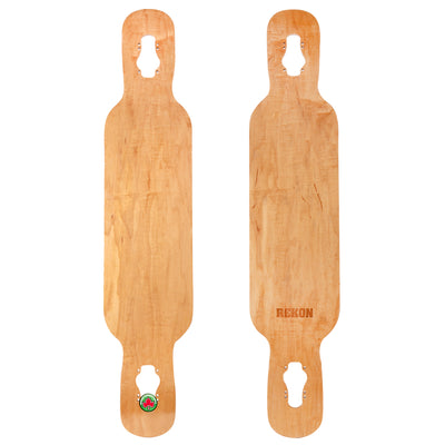8 inch drop through fiberglass longboard deck