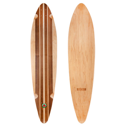9 inch longboard deck with single layer of walnut