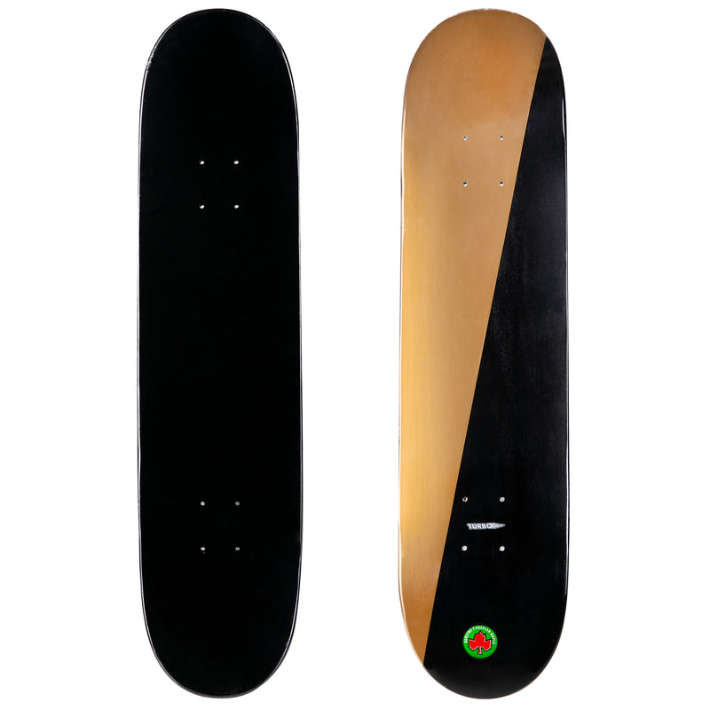 2-Tone Black and Gold Skateboard Deck