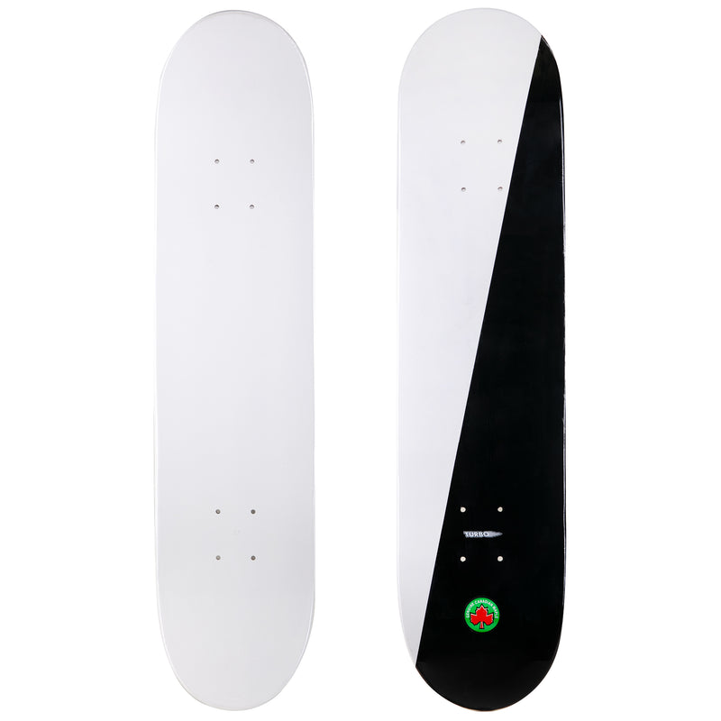 2-Tone White and Black Skateboard Deck