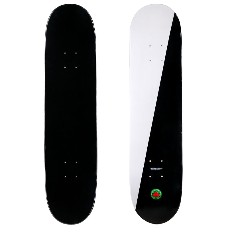 2-Tone Turbo Black and White Skateboard Deck