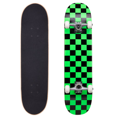 "Runner Complete Skateboard | 8"" Green Checker"