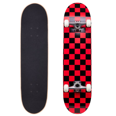 "Runner Complete Skateboard | 8"" Checker Red"