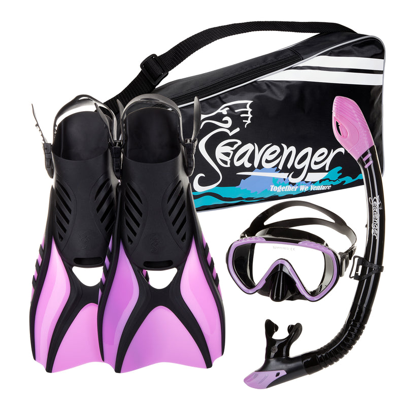 purple snorkeling set