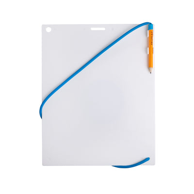 Trident Large Waterproof Writing Slate with Clip On Pencil