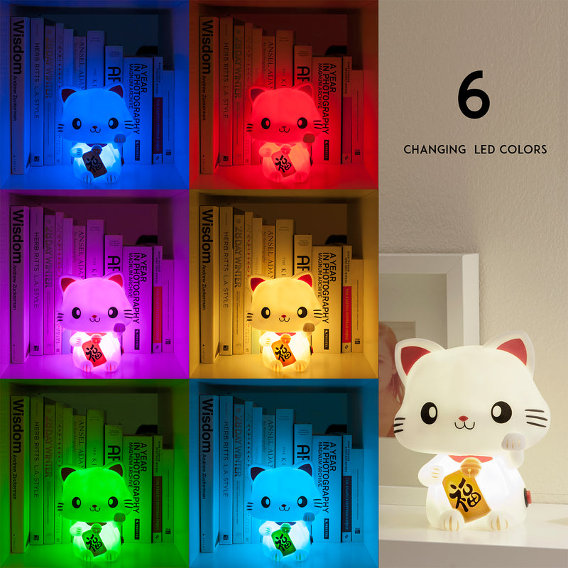 SMOKO Lucky Meow Wireless LED Color Changing Cat Lamp