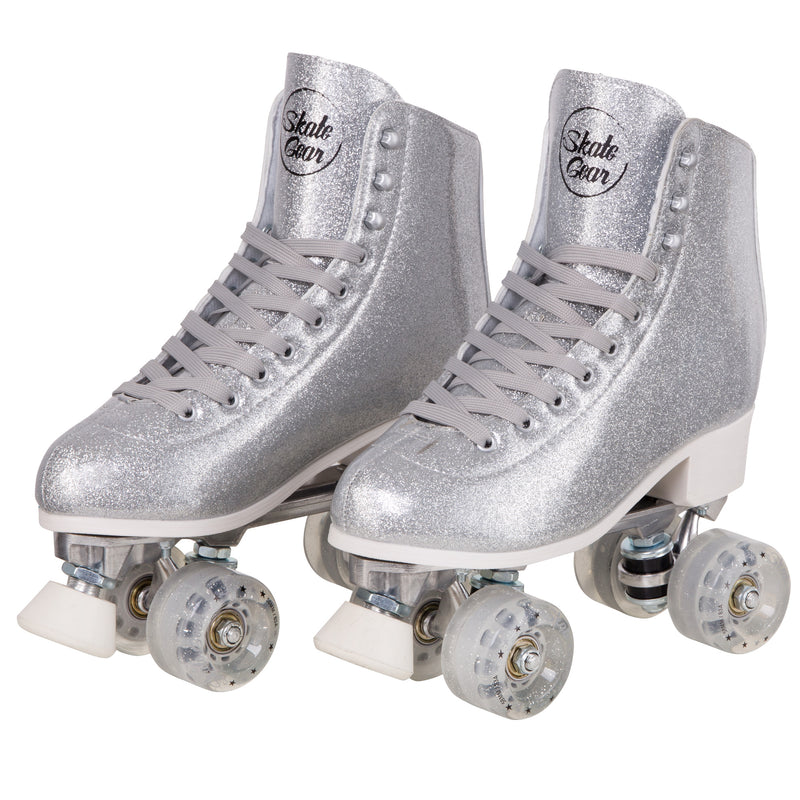 Skate Gear Glitter Quad Roller Skates for Indoor & Outdoor Skating