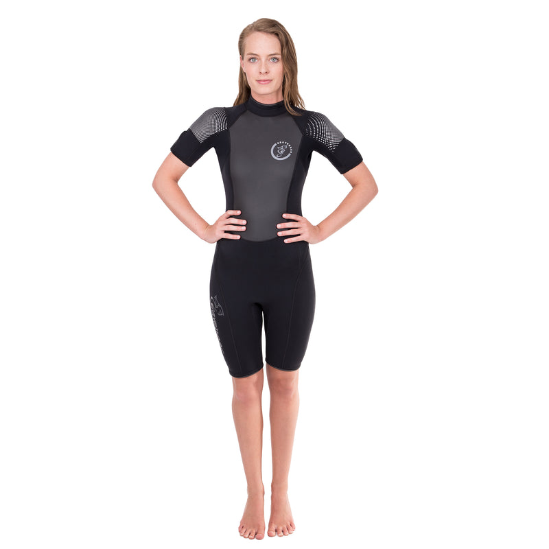 Seavenger Navigator Women's 3mm Shorty Wetsuit with Sharkskin Stomach