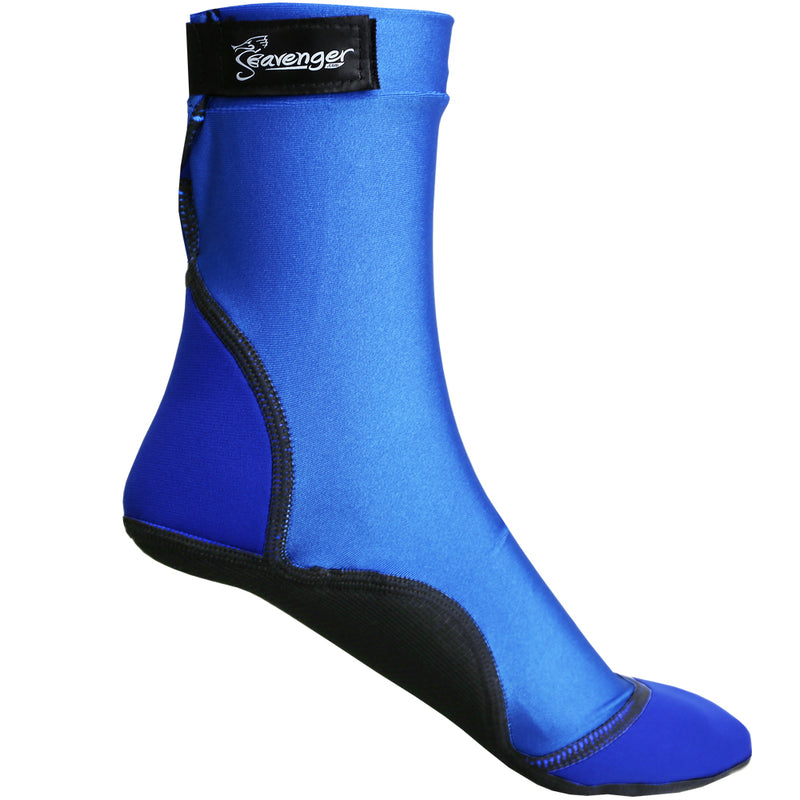 tall blue beach socks