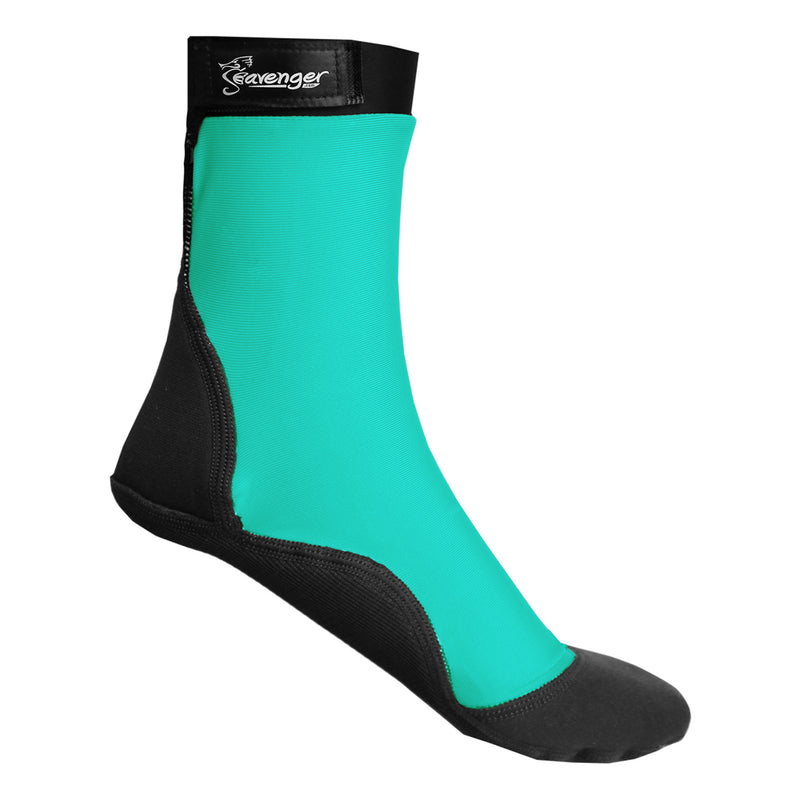 tall teal beach socks