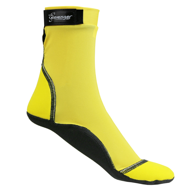 tall yellow beach socks