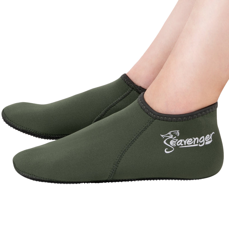 3mm olive green neoprene socks