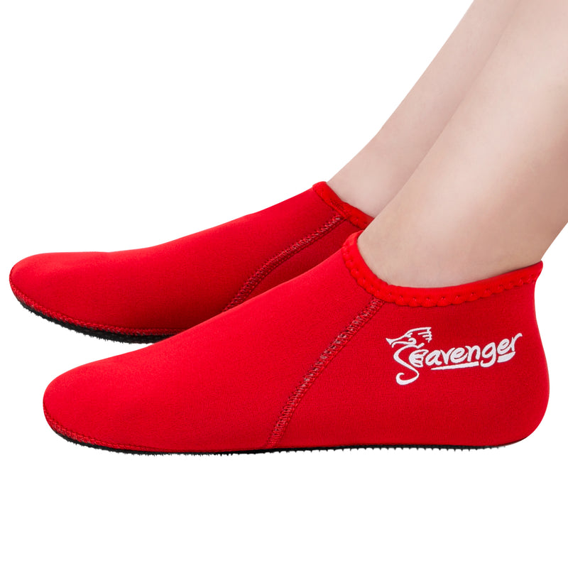3mm red neoprene socks
