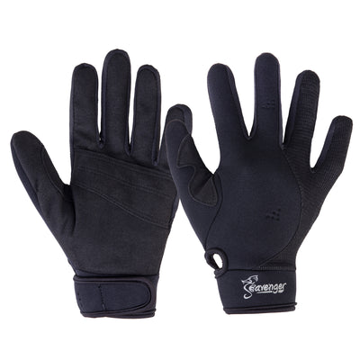 black neoprene scuba diving gloves