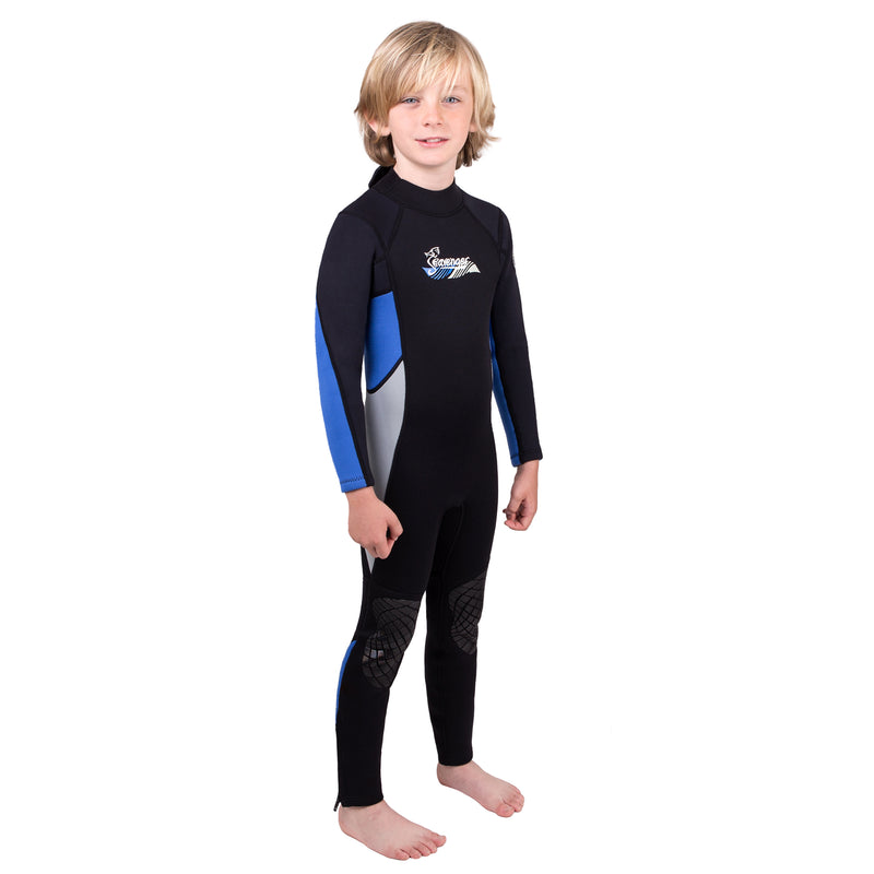 3mm blue neoprene child wetsuit