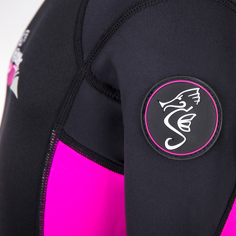 3mm pink neoprene child wetsuit