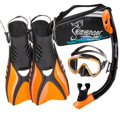 Kids orange snorkeling set