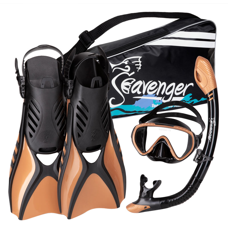 Copper snorkeling set