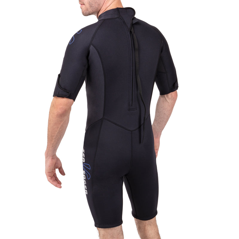 Seavenger Men's 3mm Nylon II Neoprene Shorty with Lycra Panels