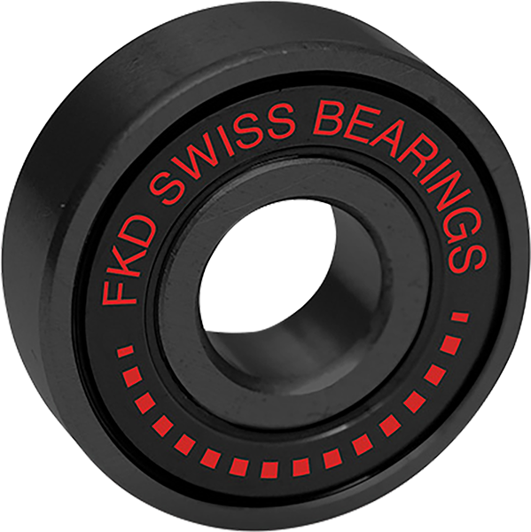 FKD Swiss Black Skateboard Bearings (Set of 8)
