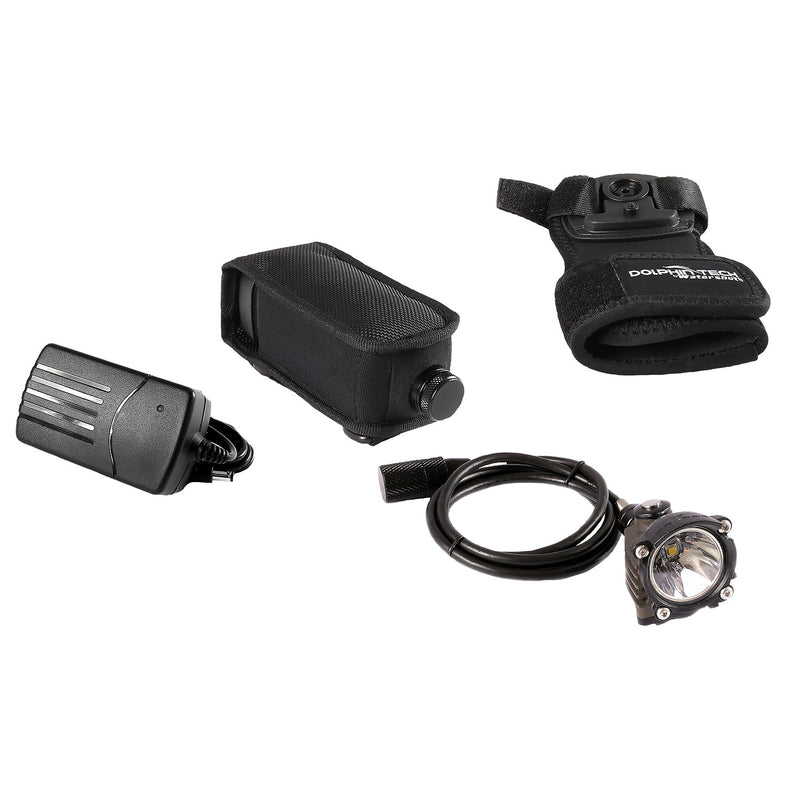 IST T-14040 Dolphin Tech Deluxe 1000 Lumen Dive Torch Kit with Hand Mount