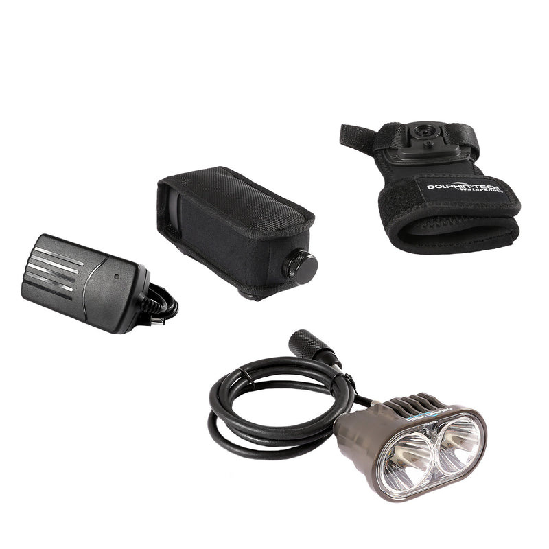 IST T-24040 Dolphin Tech Deluxe 2000 Lumen Dive Torch Kit with Hand Mount