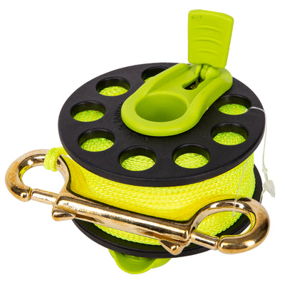 Trident Folding Handle Finger Reel With Fluorescent Yellow Line