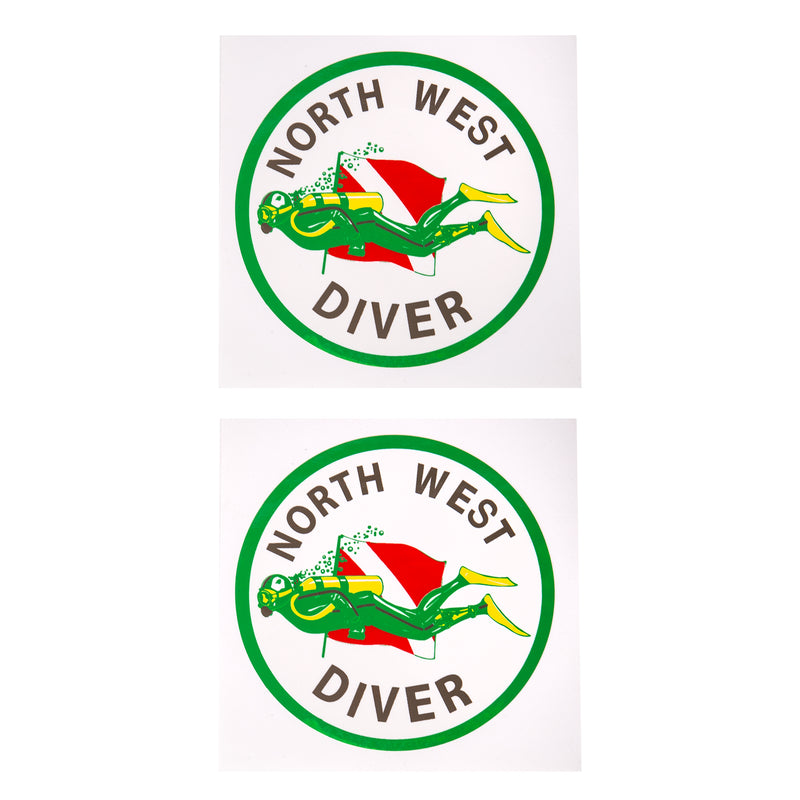 Round Northwest Diver Sticker