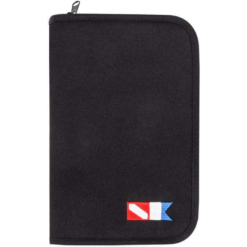 3 Ring zippered dive log organizer - Black GB08