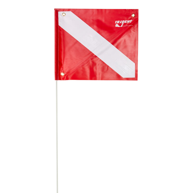 Trident Dive Flag with Stiffener and Pole