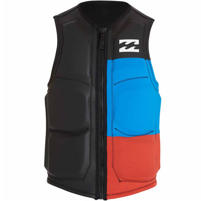 Billabong Tri Bong Wake Vest- Black, Red, Blue