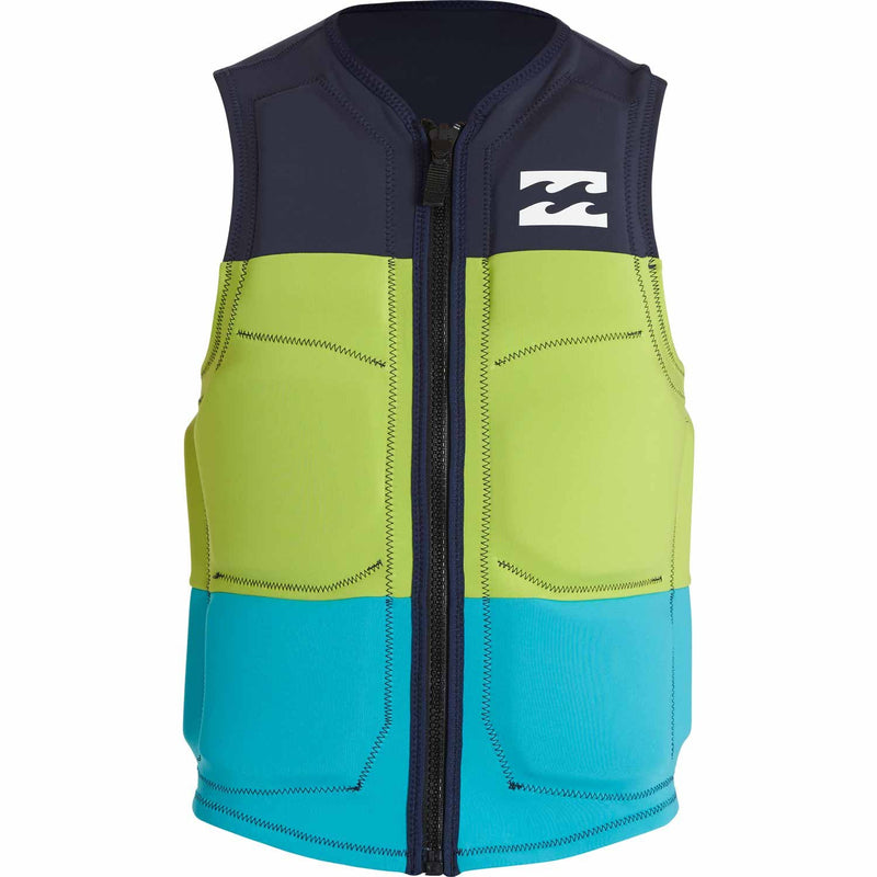 Billabong Tri Bong Wake Vest- Navy, Green, Light Blue