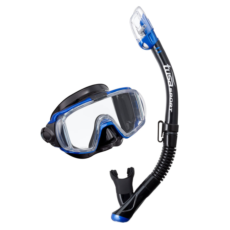 TUSA Visio Tri-Ex Dry Adult Snorkel Set with Panoramic View Mask