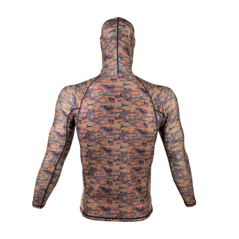 IST Camouflage Spearfishing Rash Guard with Hood, Loading Pad