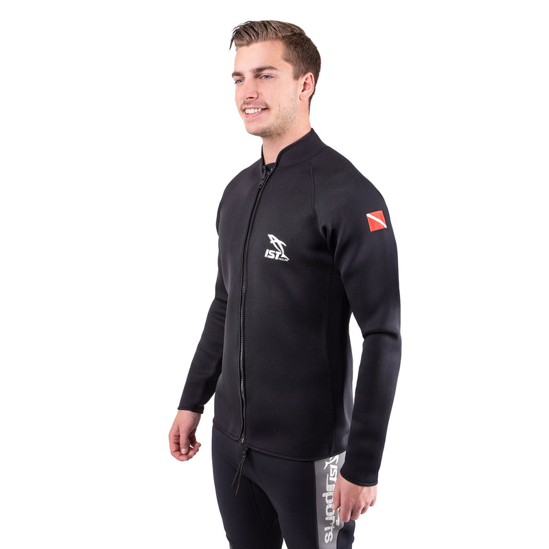 IST WJ0125 2.5mm Nylon II Long Sleeved Neoprene Jacket, Windbreaker