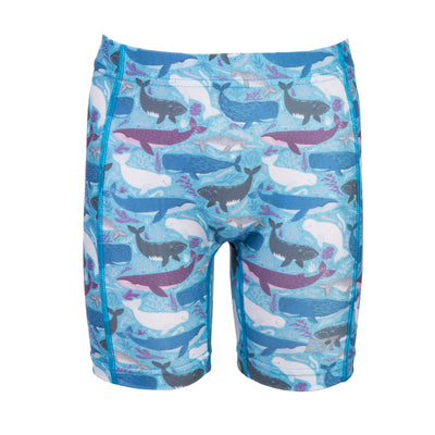 IST Kids Swim Shorts, Spandex Swimwear Rash Guard Bottoms for Girls & Boys at the Beach & Pool