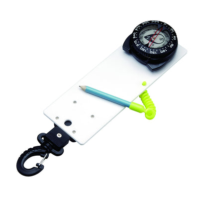 IST Retractable Lanyard Underwater Slate with Glow in the Dark Compass