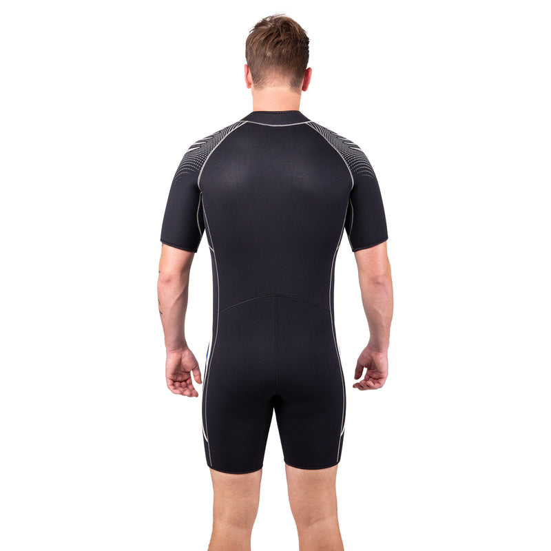 IST Men's 5mm Neoprene Front Zip Shorty with Super-Stretch Panels