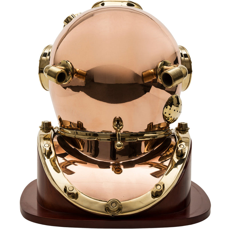 "18"" Dive Helmet Replica with Wood Stand"