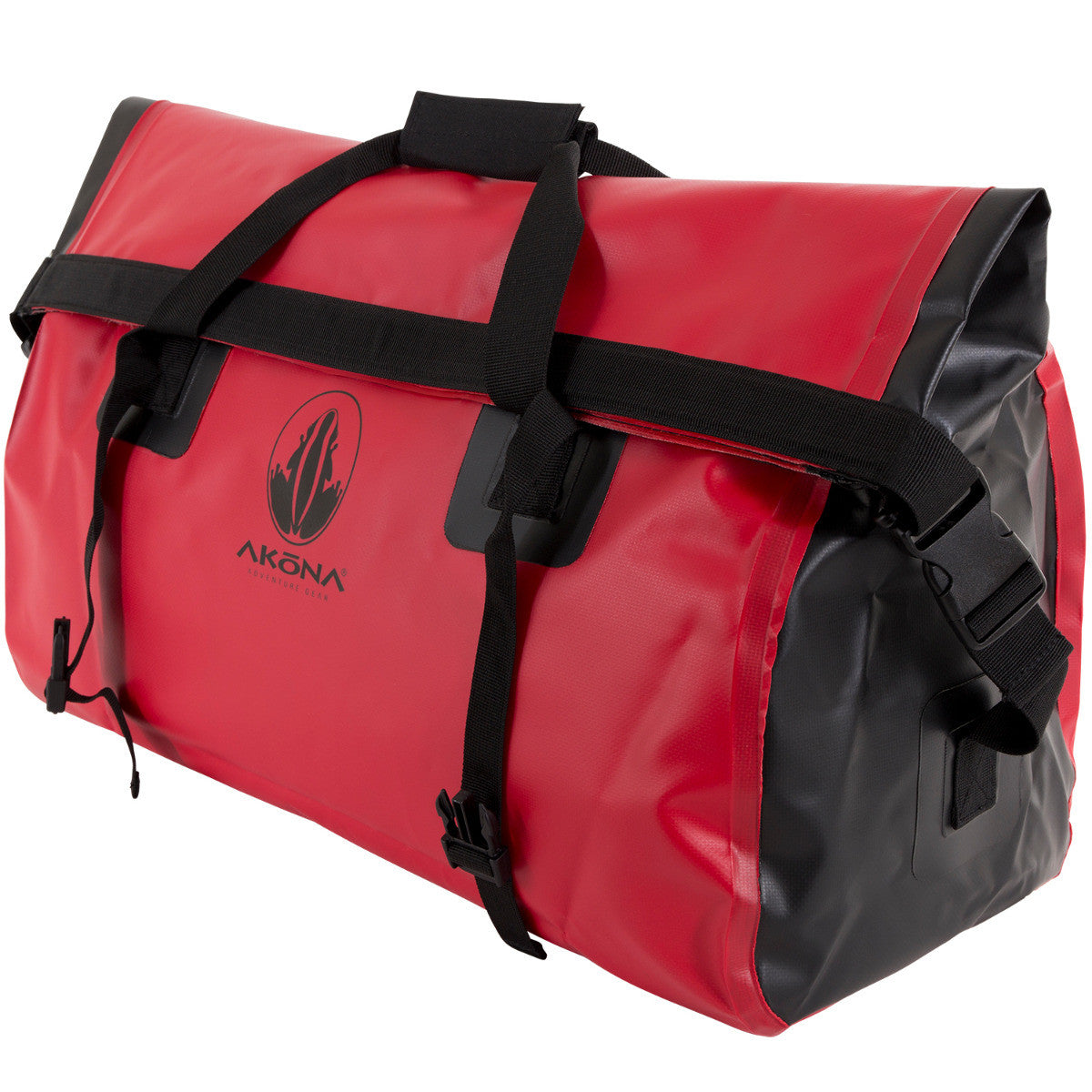 Akona Large Dry Bag Duffel With Roll Top And Compression Straps Hand Rolling Compressed
