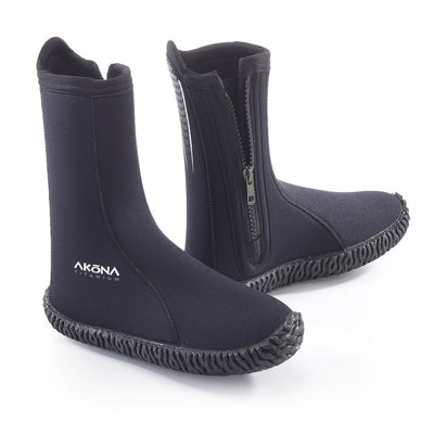 Akona High Cut Vulcanized Rubber Sole 6mm Water and Dive Boot