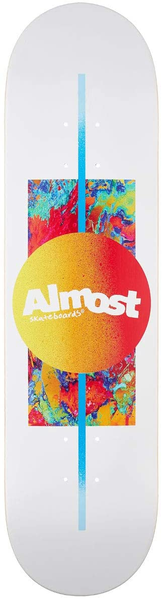 "Almost Gradient White 8.0"" Skateboard Deck"