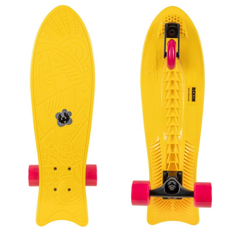 "Rekon 24"" x 7"" Bee Board Wave Skateboard with 3 Wheels"