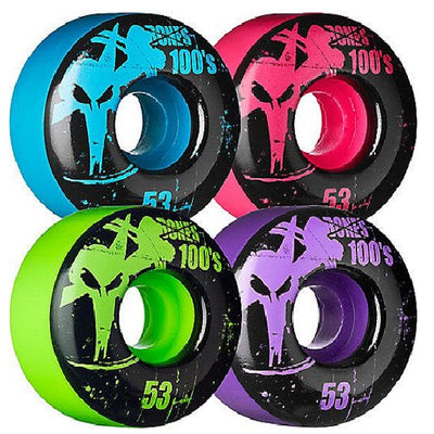 Bones 100's #2 53mm ASST Skateboard Wheels V1